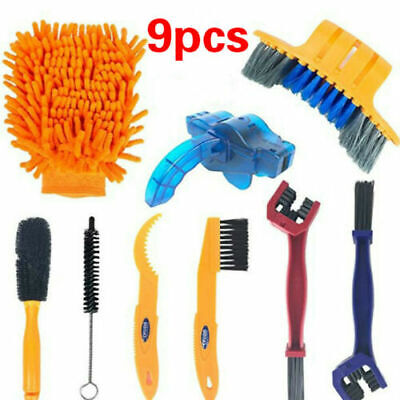 Bicycle Chain Cleaner Brushes Cycling Cleaning Wash Tool Kit For Mountain Bike • 13.99£