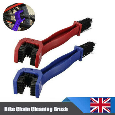 Bike Chain Cleaning Brush Motorcycle Bicycle Gear Cleaner Scrubber Portable Tool • 4.64£