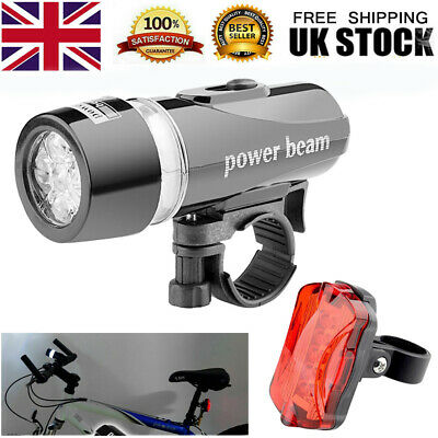 LED Mountain Cycle Headlight Bicycle Bike Front & Rear Lights Set • 4.98£