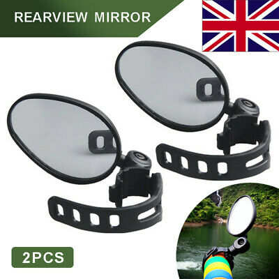 2Pcs 360°Safe Rear View Mirror Cycling Bike Bicycle Handlebar Mount Accessories • 4.25£