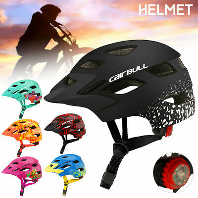 Kids Bike Bicycle Cycling Skating Helmet Outdoor Sports Safety Gear W/Tail Light • 11.99£