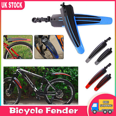 Bicycle Cycling Front / Rear Mud Guards Mud Set Mountain Bike Tire Fenders New • 5.39£