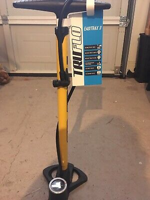 Truflo Easitrax 3 Track Pump With Gauge, Max 160 Psi Yellow • 9.40£