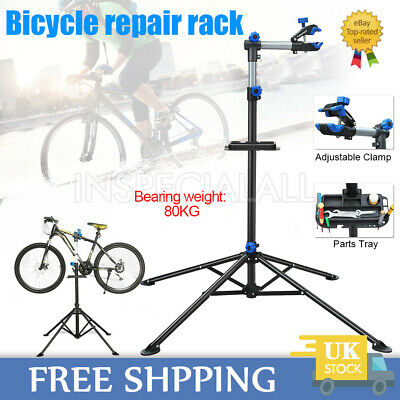 Adjustable Bicycle Bike Repair Stand Folding Mechanic Maintenance Workstand Rack • 42.59£