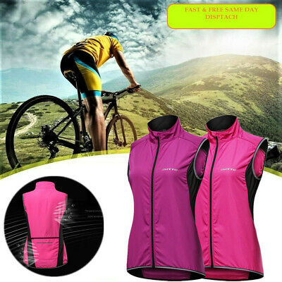 Cycling Vest Bike Jersey Breathable Reflective Windproof Running Hiking Gilet UK • 14.99£