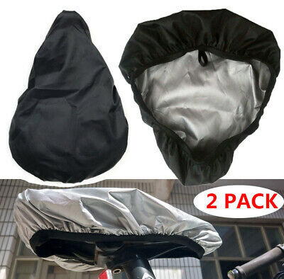 2 PACK Waterproof Bike Seat Cover Bicycle Saddle Plastic Elastic Rain Cover Cap • 4.99£