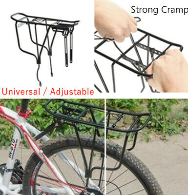 50kg Max Alloy Rear Bicycle Pannier Rack Carrier Luggage Bag Cycle Mountain Bike • 10.89£