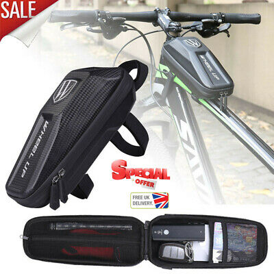 Cycling Bike Bicycle Frame Bag Front Tube Pouch Case MTB Waterproof Phone Holder • 10.90£
