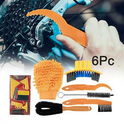6pcs Bicycle Chain Cleaner Cycling Clean Tire Brushes Tool Kit Set Bike Cleaning • 5.49£