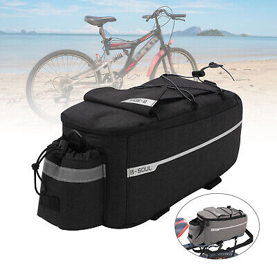 Insulated Trunk Cooler Bag Bicycle Rear Rack Bags Reflective Bike Pannier Bag UK • 8.39£