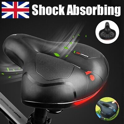 Extra Wide Comfort Saddle Bicycle Seat Pad Soft Padded Mountain Bike Gel Saddle • 7.99£