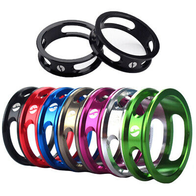 Alloy Headset Spacers Washers 1 1/8  CNC MTB Road Bike Bicycle Stem 10mm 28.6mm • 4.09£