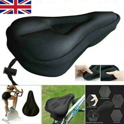 Soft Bike Gel Pad Comfy Cushion Saddle Seat Cover Mountain Bike Bicycle Cycle UK • 5.99£