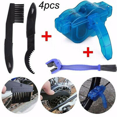 Bicycle Chain Wheel Cleaning Brushes MTB Bike Wash Scrubber Cleaner Tool 4PCS UK • 7.91£