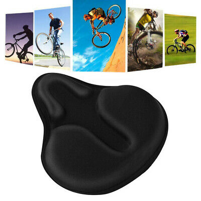 Bike Extra Comfort Soft Gel Pad Comfy Cushion Saddle Seat Cover Bicycle Cycle . • 13.88£