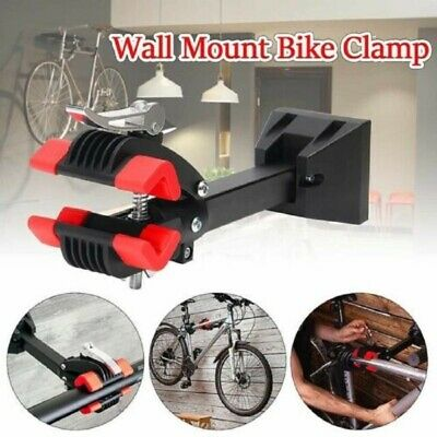 Bike Wall-Mount Heavy Duty Bicycle Repair Rack Stand Maintenance Folding Clamps • 21.99£