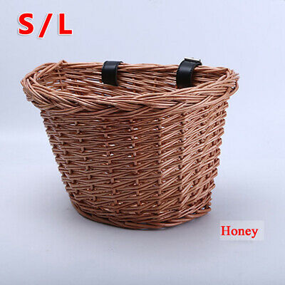Bike Basket Black Leather Adjustable Strong Strap Bicycle/Cycle/Shopping/Cycling • 11.64£