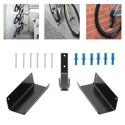 Bike Rack Pedal Hook Wall Mount Hanger Wheel Holder Display Storage Brackets MTB • 11.99£