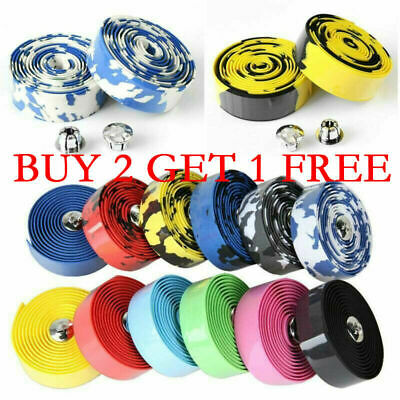 Handlebar Tape Cycling Road Bikes Cycling Rubber Foam Handle Bar Grip Wrap Tape • 3.99£