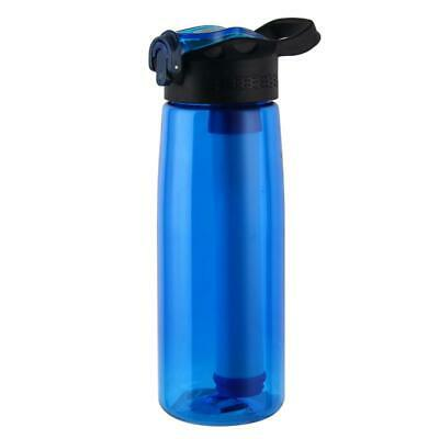 Outdoor Survival Purifier Water Filter Cup Drinking Water Bottle (Blue) • 14.86£