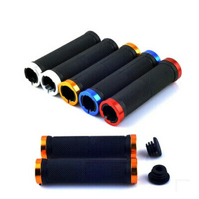 Double Lock On Locking Bmx M Tb Mountain Bike Cycle Bicycle Handlebar Grips_ • 3.49£