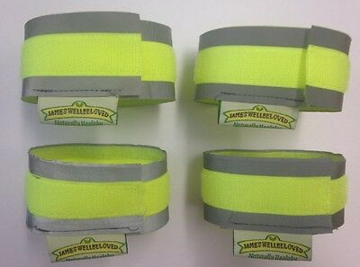 Cyclist / Cycling Reflective Hi Vis Cuffs Strips Fluorescent Protection Straps  • 2.99£
