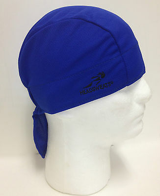 Blue Headsweats Coolmax Shorty Bandana Dew Wrap Rag • 12.95£