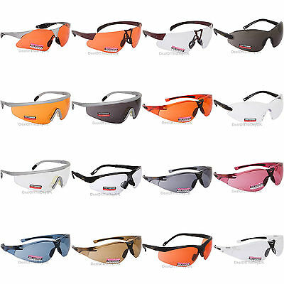 Regatta Cycling Glasses Sports Sunglasses UVA400 Safety Clear Orange Bicycle UK • 5.95£