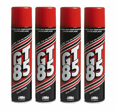 4 X GT85 PTFE LUBRICANT SPRAY CAN AEROSOL CHAIN OIL LIBE 400ml WATER DISPLACER • 13.89£