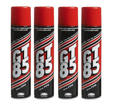 4 X GT85 SPRAY LUBE PTFE LUBRICANT PENETRATOR WATER DISPLACER CORROSION 400ML • 12.98£