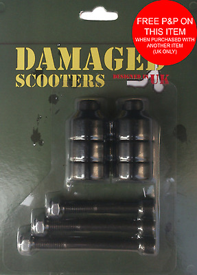 """Damaged"" Brand Stunt Scooter Freestyle Grinding Trick Nuts Pegs Slider • 5.99£"