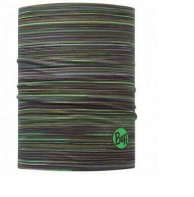NOS BUFF HELMET LINER PRO FEATURE HEADWEAR Fast Wicking Green Strips • 15£