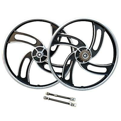 20  BMX Bike Mag Alloy Front & Rear Freestyle Wheels Wheelset • 55£