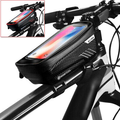Cycling Bike Bicycle Front Tube Frame Bag Pannier Touch Screen Phone Holder Case • 11.78£