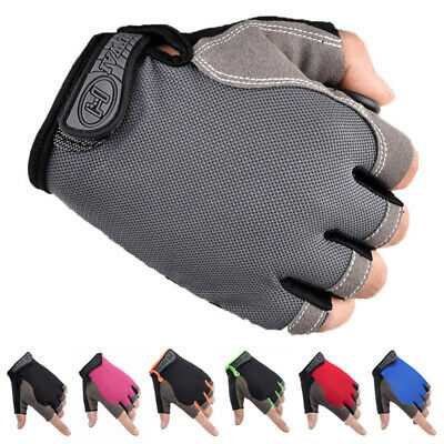 Half Finger Cycling Gloves MTB Bike Bicycle Cycle Riding Sport Short Fingerless • 4.35£