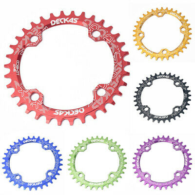 BCD 104mm MTB Narrow Wide Chainring 32/34/36/38T Cycle Bike Bicycle Chainwheel • 5.23£