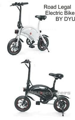 DYU D4+  VIP Electric Bike 10.4 Lithium Battery High Spec Road Legal E Scooter  • 559£