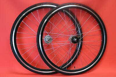 700c Fixed Fixie Single Speed Bike Wheelset Flip Flop Freewheel Continental Tyre • 77.99£