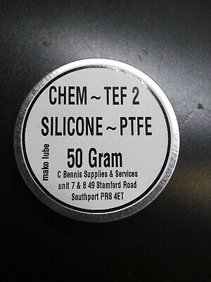 CT-2 SILICONE GREASE WITH TEFLON,50g TIN  PLASTIC SAFE LOW FRICTION • 3.89£