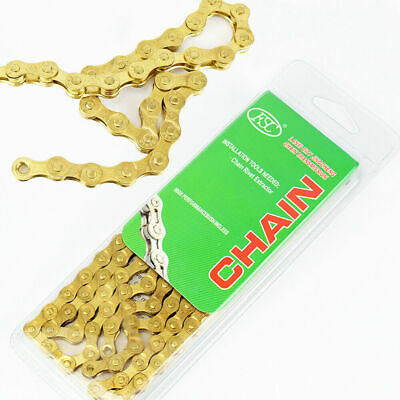 Bicycle Chain 6/7/8 Speed Mountain Road Bike Chains Fit Shimano IG51 Gold 116L  • 11.95£