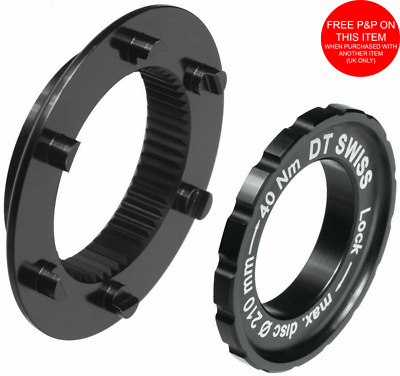 DT Swiss Is Brake Adaptor From 6-Bolt To Centerlock Disc For Qr Or Thru-Axle Hub • 13.99£