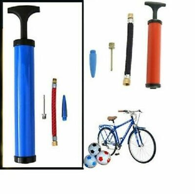 T-Handle Mini Bike Bicycle Inflating Sport Football Soccer Tyre Pump Colours • 3.49£