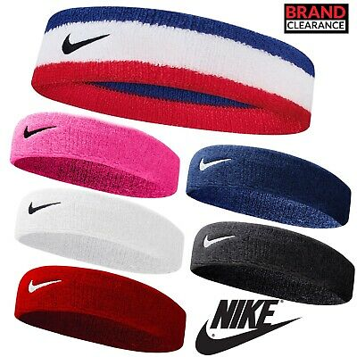 Nike Swoosh Sports Headband (6 Colours) Mens Ladies Tennis Golf Squash Training • 6.99£