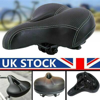 Universal Extra Wide Comfy Cushioned Bicycle Gel Saddle Bike Seat Soft Padded DY • 17.59£