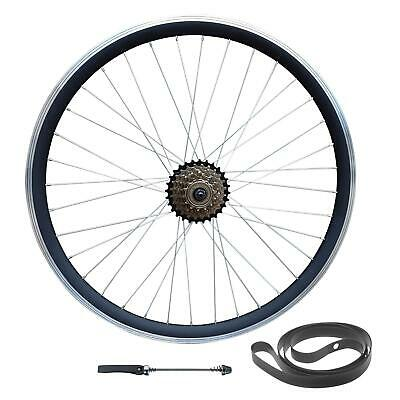 QR 26  MTB Bike Disc/Rim Brake REAR Wheel 6/7/8/9 Speed Double Wall • 52£