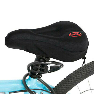 Wide Big Bum Bike Bicycle Gel Cushion Extra Comfort Sporty Soft Pad Seat Cover. • 4.88£