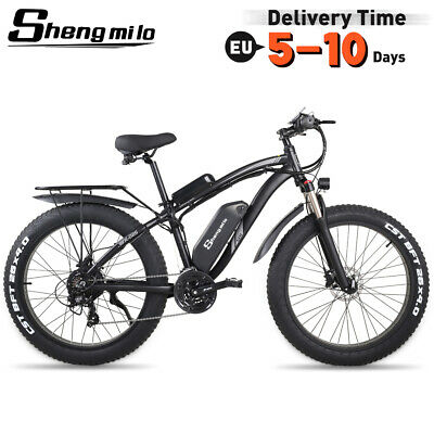 New Electric Bicycle 1000w 48v Suvs Mountain Ebike Fat Tire Electric Moped Adult • 1,211£