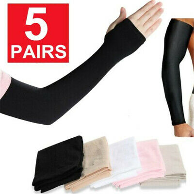 5Pairs Cooling Arm Sleeves Outdoor Sport Basketball UV Sun Protection Arm Cover! • 4.16£