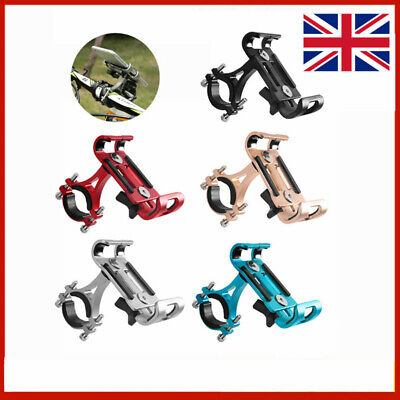 Bike Mobile Phone Holder Stand Aluminum Alloy Cycling Bicycle Bracket Anti-slip. • 7.59£
