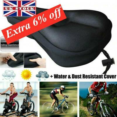 Soft Comfort Gel Pads Mountain Bikes Comfy Cushion Saddle Seat Cover Bicycle • 6.79£
